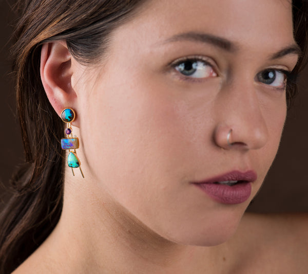 Jennifer Kalled Boulder Opal Earrings
