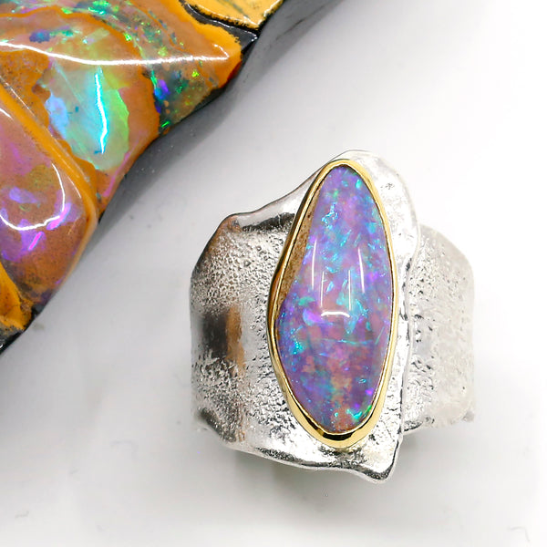 opal-petrified-wood-ring-gold-silver-kalled-kasso