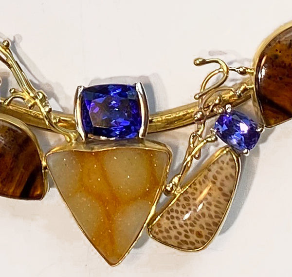 Tanzanite Slide with Agate