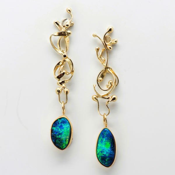 Jennifer-Kalled-australian-boulder-opal-22k-18k-gold-post-earrings