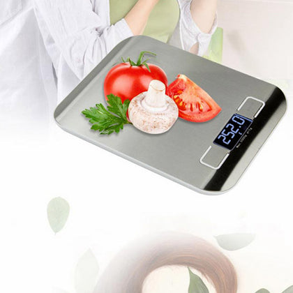 ELE_17 Digital Multifunction Stainless Steel Kitchen Food Scale with LCD Display