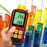 PD_12 Kibeland Instrument Digital Thermometer Dual Channel Temperature Meter Tester for K/J/T/E/R/S/N Thermocouple Large Display with Backlight