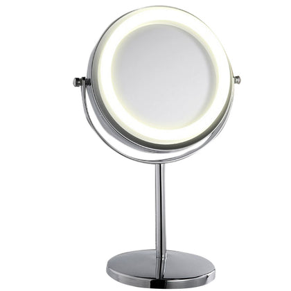 ELE_77 Double-Sided LED Mirror Lighted Makeup Mirror 3X Magnifying Mirror Rotates 360 Degrees