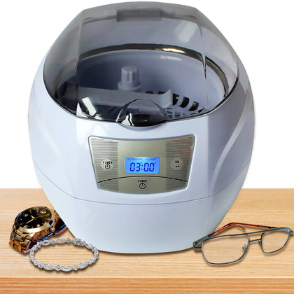 ELE_199 Professional Ultrasonic Cleaner with Digital Timer for Cleaning Eyeglasses, Watches, Rings, Necklaces, Combs, Instruments