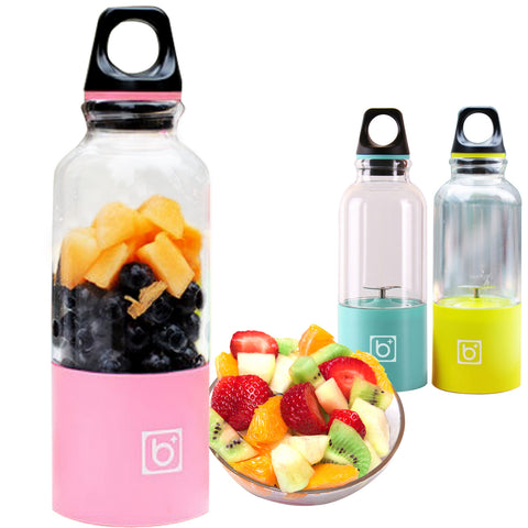 ELE_27 500ml Portable Juicer Cup Rechargeable Electric Juice Blender & Mixer