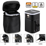 ELE_299 Kibeland Travel Adapter Worldwide All in One Universal Travel Plug Wall Charger for US/EU/UK/AU With Dual USB Charging Ports