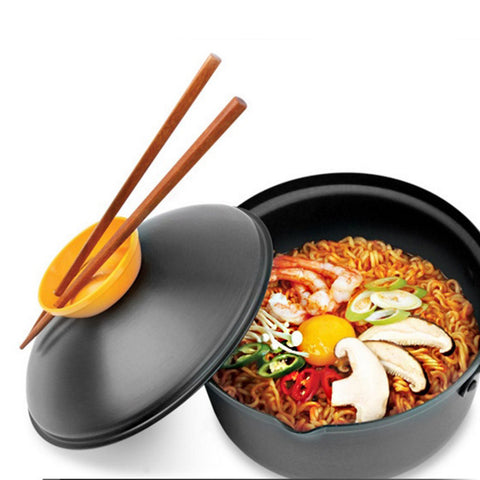 KIT_482 Kibeland Speedy Cooking Pot Cooking Pan for Noodles, Ramen, Spaghetti, Muti-Purpose Cooking, 18cm One Handle