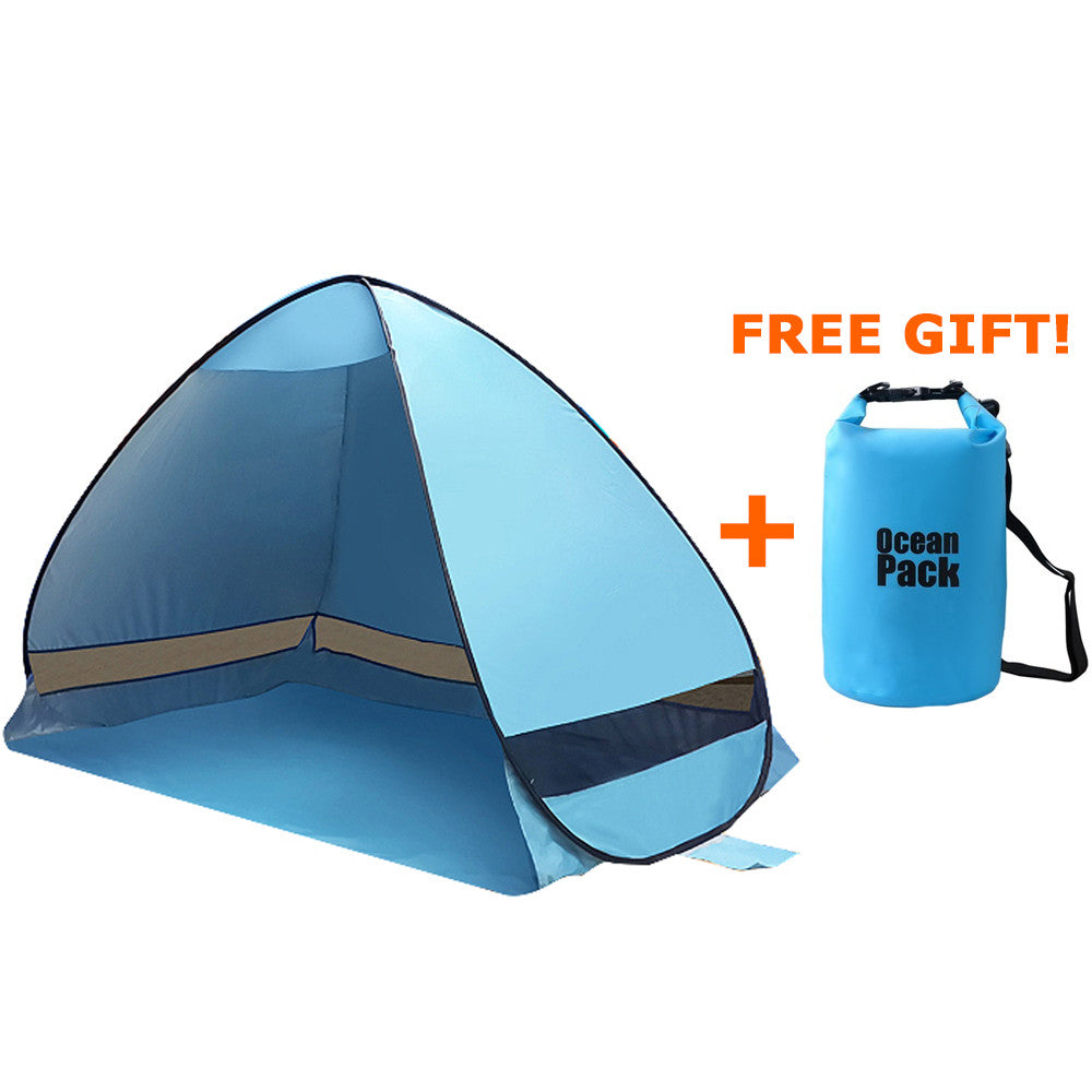 MIS_92 Kibeland Automatic Pop Up Beach Tent Portable Sun Shade Shelter  Anti UV Beach  sc 1 st  Kibeland : shade beach tent - memphite.com