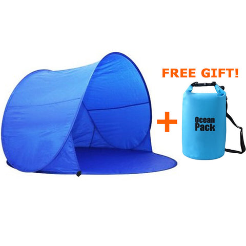 MIS_93 Kibeland Automatic Pop Up Sun Shelter Tent Portable Instant Beach Tent with Carry Bag FREE Waterproof Bag