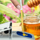 PD_17 Kibeland Honey Moisture Brix Refractometer with ATC, Handheld High Measuring Range 58~90% Brix, Honey Refractometer, with EXTRA Mini USB Light
