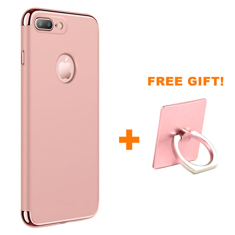PHO_369 Kibeland iPhone 7 Case 3-in-1 Ultra Thin and Slim Hard Case, FREE Universal Phone Ring Grip & Stand with 360 Degree Rotating