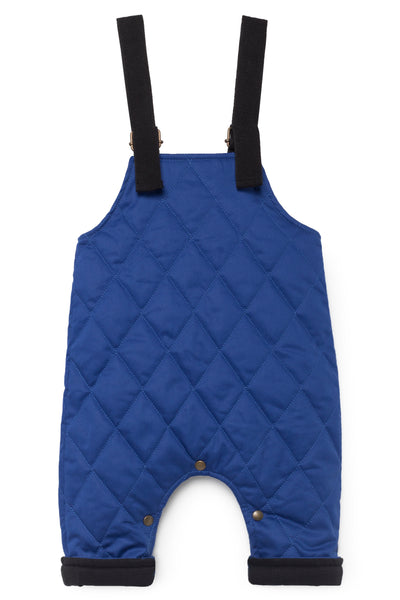 Quilted Dungarees- Blue
