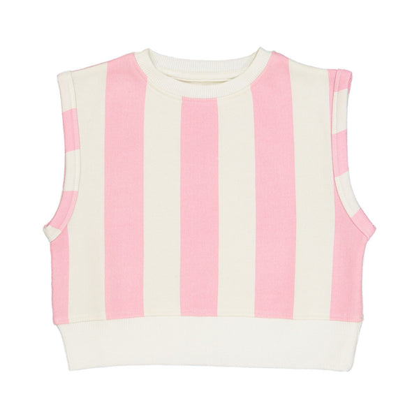 Short Sleeve Sweater Pink Stripes