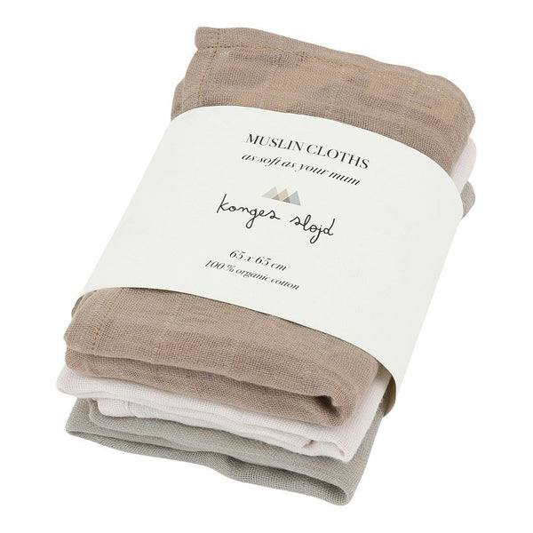 3 Pack Muslin Cloths