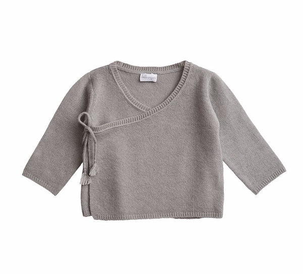 Cashmere Wrap Top Cloud Grey