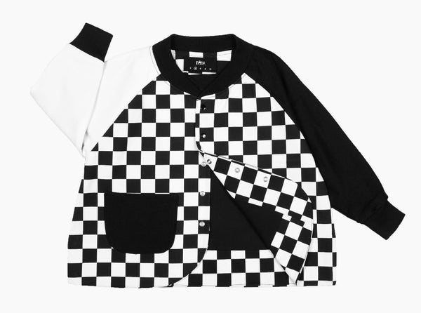 Frankie Varsity Jacket Multi Checker