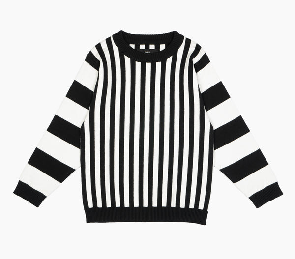 Knit Sweater Black Stripe