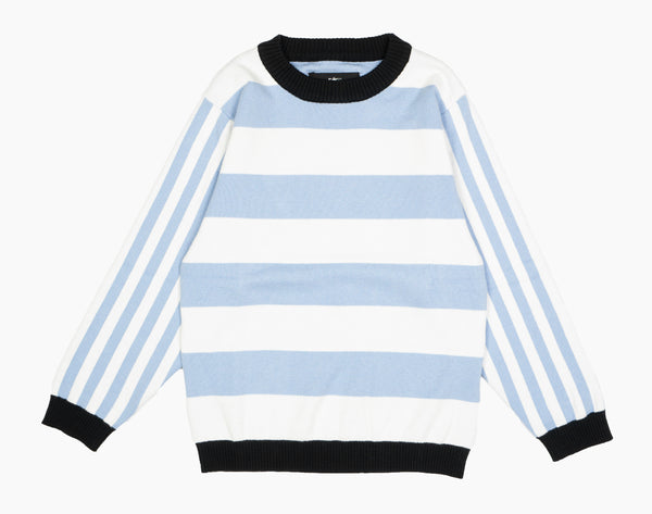 Knit Sweater Blue Stripe