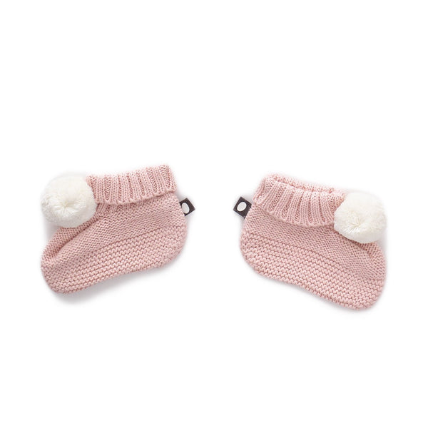 Pom pom Booties light pink