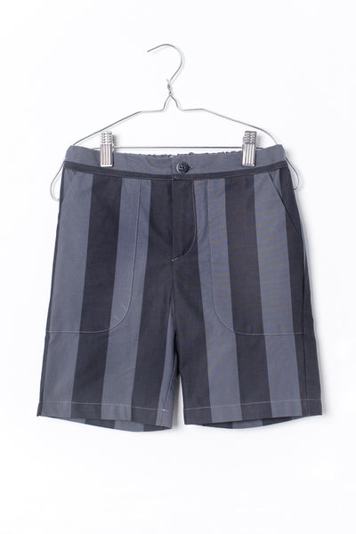 Pocket Pants Black and Grey Stripes