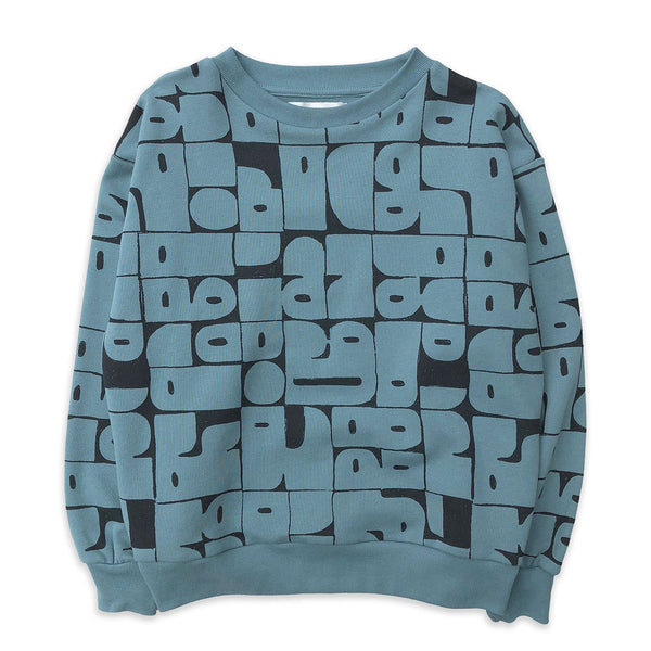 Stone Blue Shapes Sweater