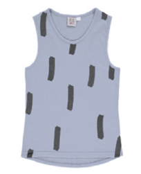 Stone washed chalk blue racer vest