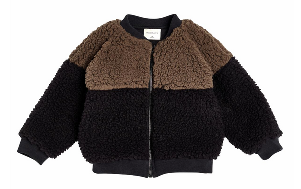 Block Sherpa Bomber Coffee Black