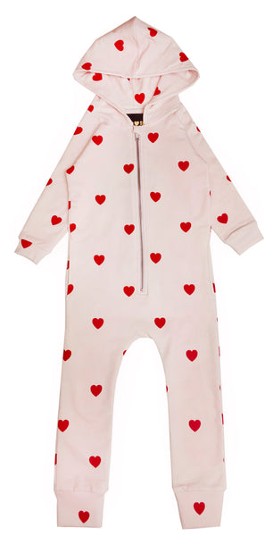 Red hearts jumpsuit