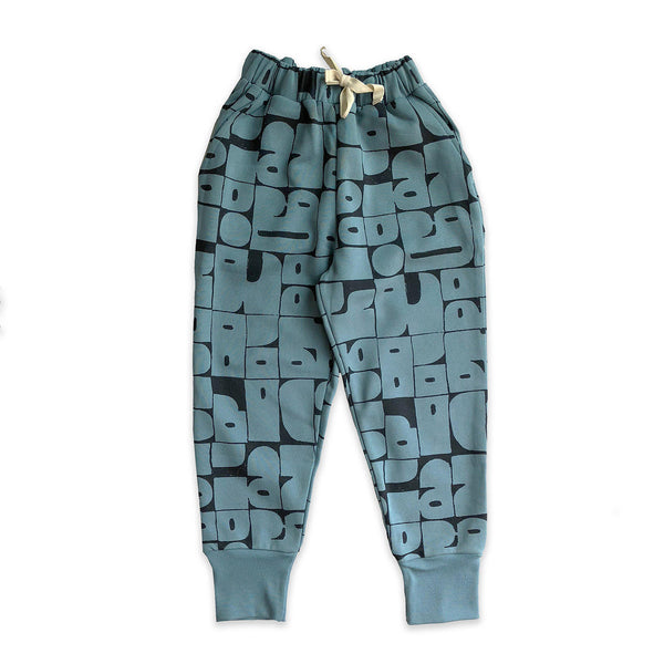 Stone Blue Shapes Sweater pants