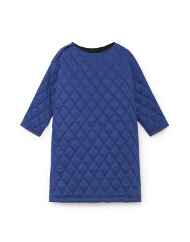Quilted Tunic Dress- Blue