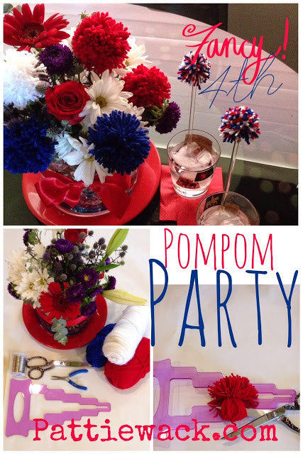 4th of July - Pom-Pom Centerpiece