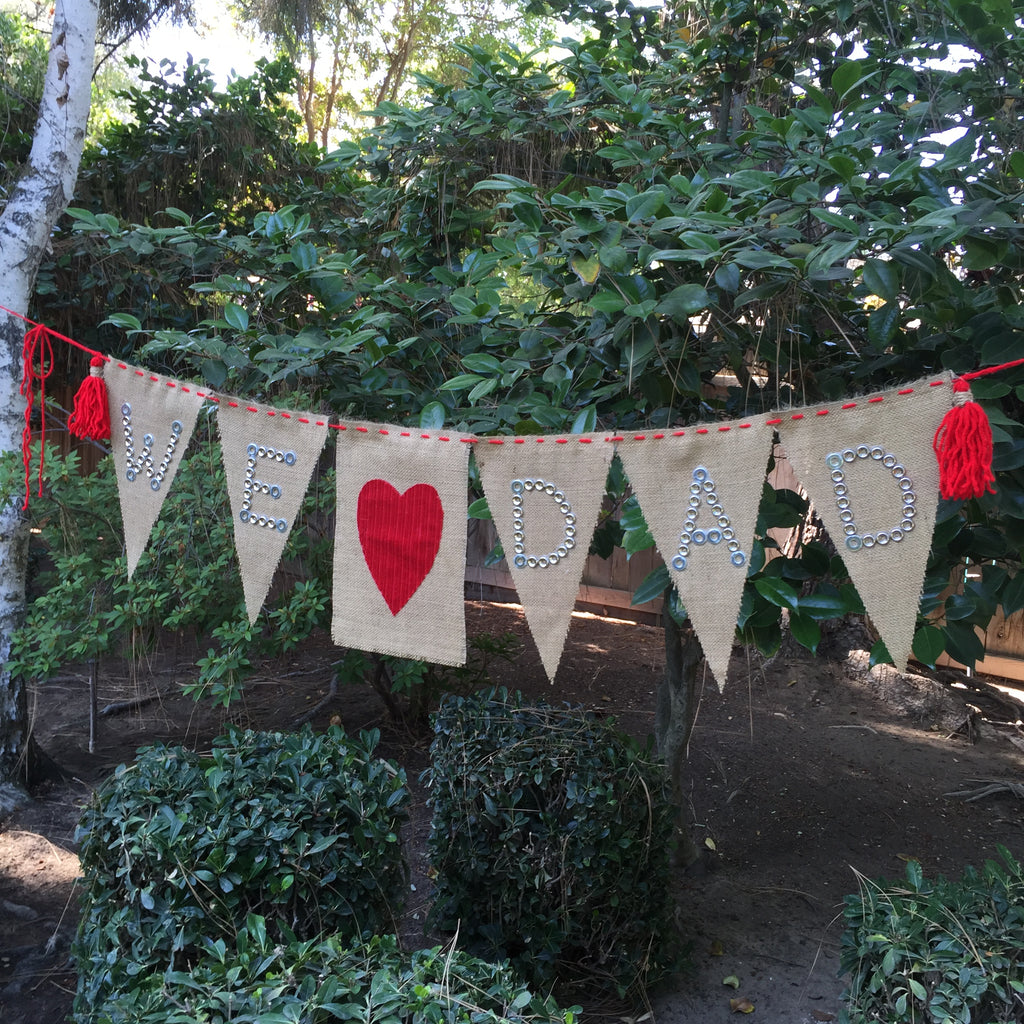 DIY Father's Day Burlap Banner