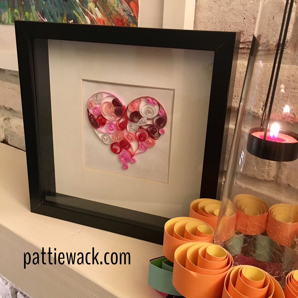 Quilled Heart Art