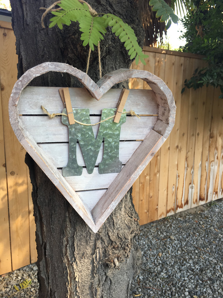 DIY Farmhouse Monogram Sign