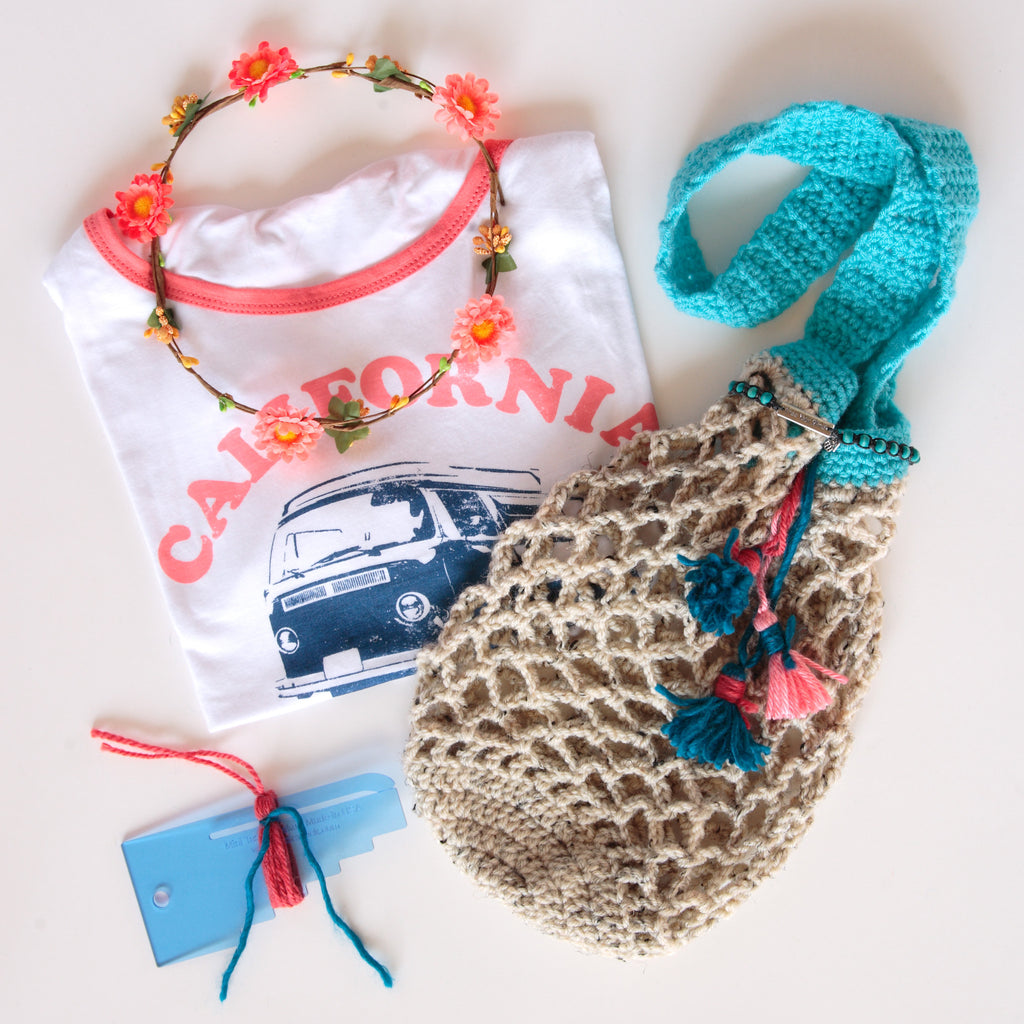 Boho Market Bag - California Dreamin'