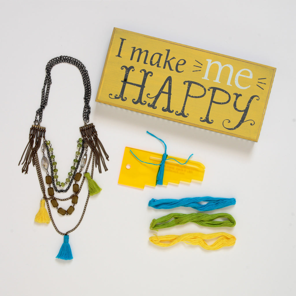 "DIY Tassels - ""I Make Me HAPPY"""