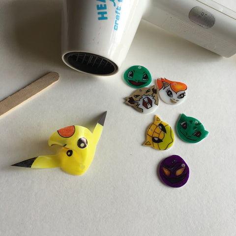 Pokemon DIY Shrink Plastic Bracelet - Step 5 Shrink