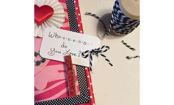 Valentine's Day Owl Box -message clothespin