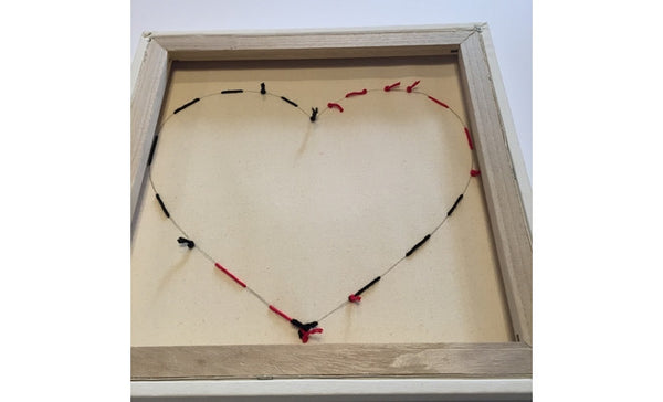 String Art Heart - knotted back