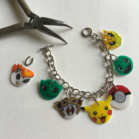 Pokemon DIY Shrink Plastic Bracelet - Step 6  Assemble