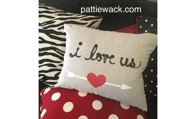 "Paint a Romantic Pillow - ""I Love Us"""
