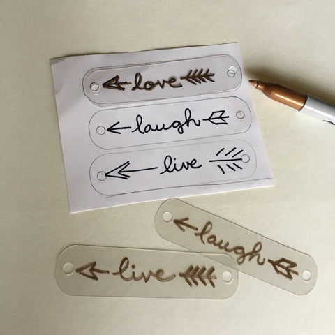 Clear Shrink Plastic - Write with permanent marker