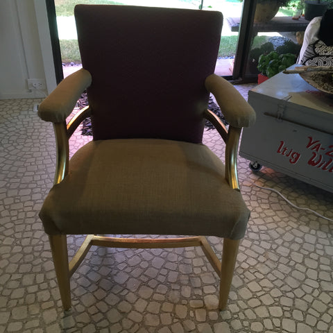 Monogram Burlap Chair - Reupholster Tutorial