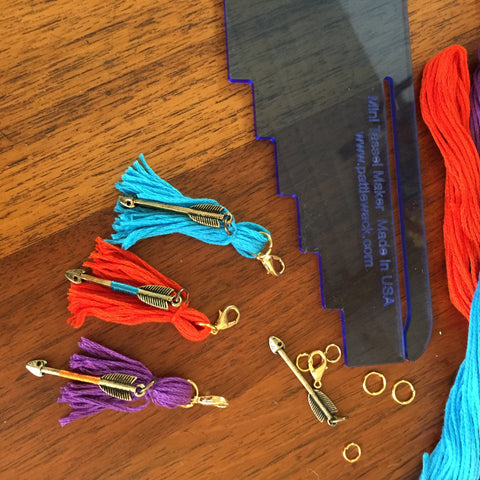 attach jewelry findings to tassels