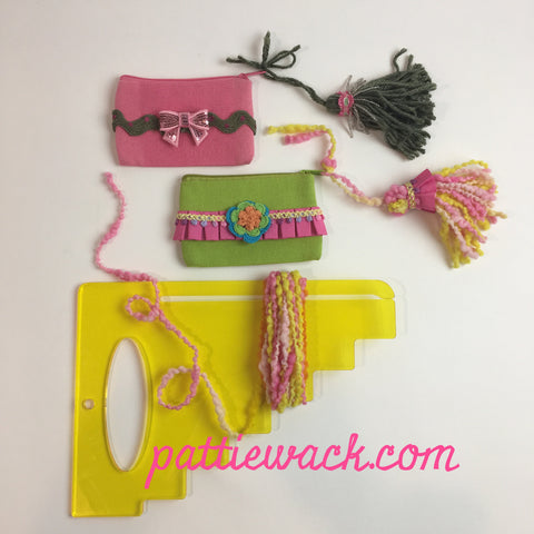 Mini tassels on french coin purse
