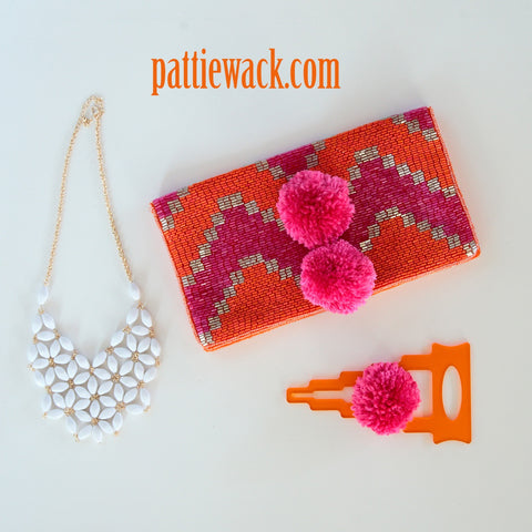 New Years Pompom Clutch
