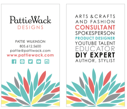 Pattiewack Business Card