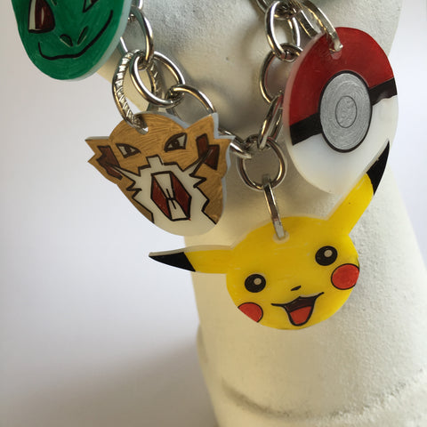 Pokemon DIY Shrink Plastic Bracelet - Close-up