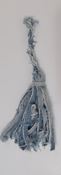 denim tassel