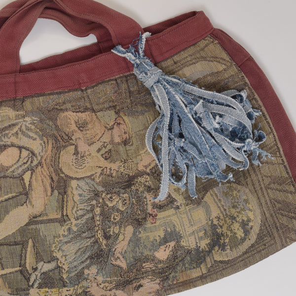 HowTo Make Denim Tassels - Tapestry Tote Bag - shop now